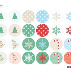 "1.5"" Digital Collage Sheet Cir.."