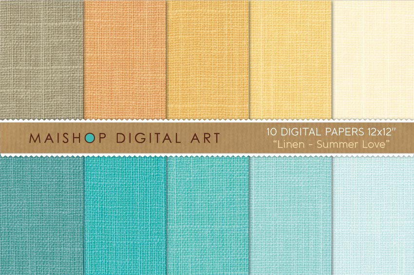 Digital Papers - Linen - Summer Love