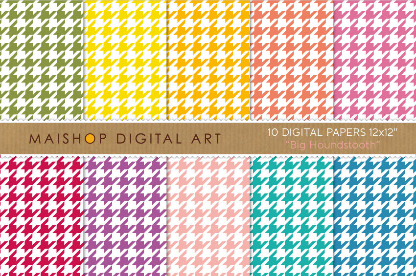 Digital Papers - Big Houndstooth