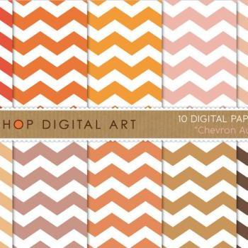 Digital Papers - Chevron Autumn