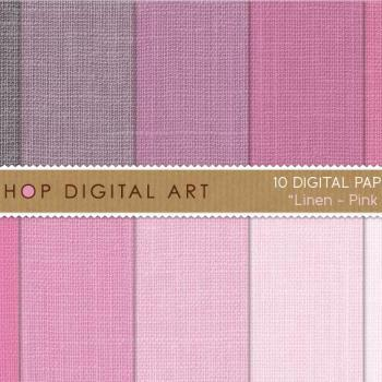 Digital Papers - Linen - Pink Shades